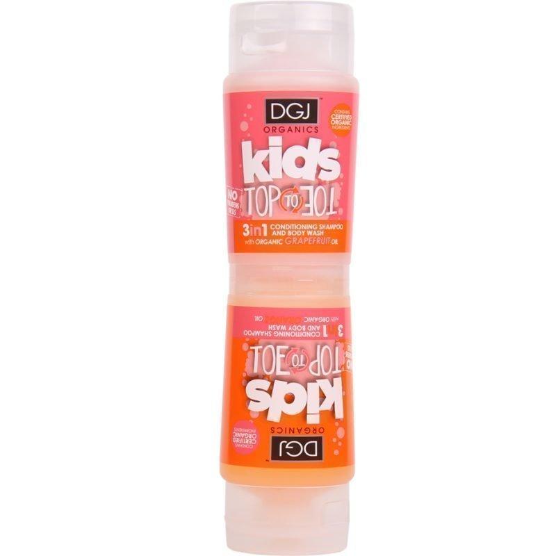 DGJ Organics Kids Top To Toe 3 in 1 Conditioning Shampoo And Body Wash  Orange & Grapfruit 250ml
