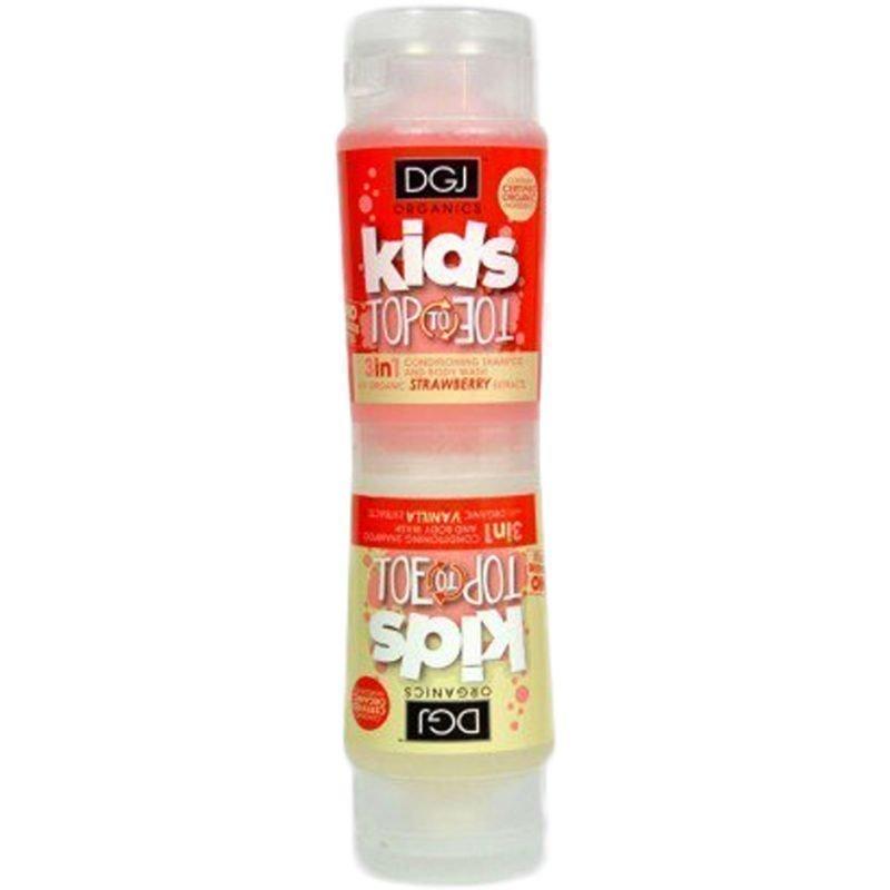 DGJ Organics Kids Top To Toe 3 in 1 Conditioning Shampoo And Body Wash Strawberry & Vanilla 250ml