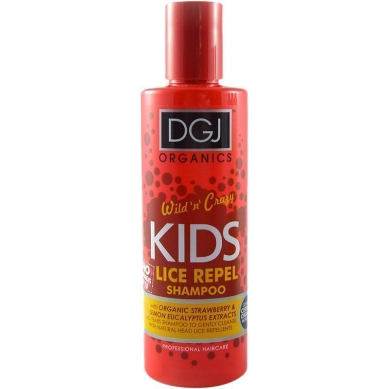 DGJ Organics Wild 'n' Crazy Kids Lice Repel Shampoo Strawberry & Lemon Eucalyptus 250ml