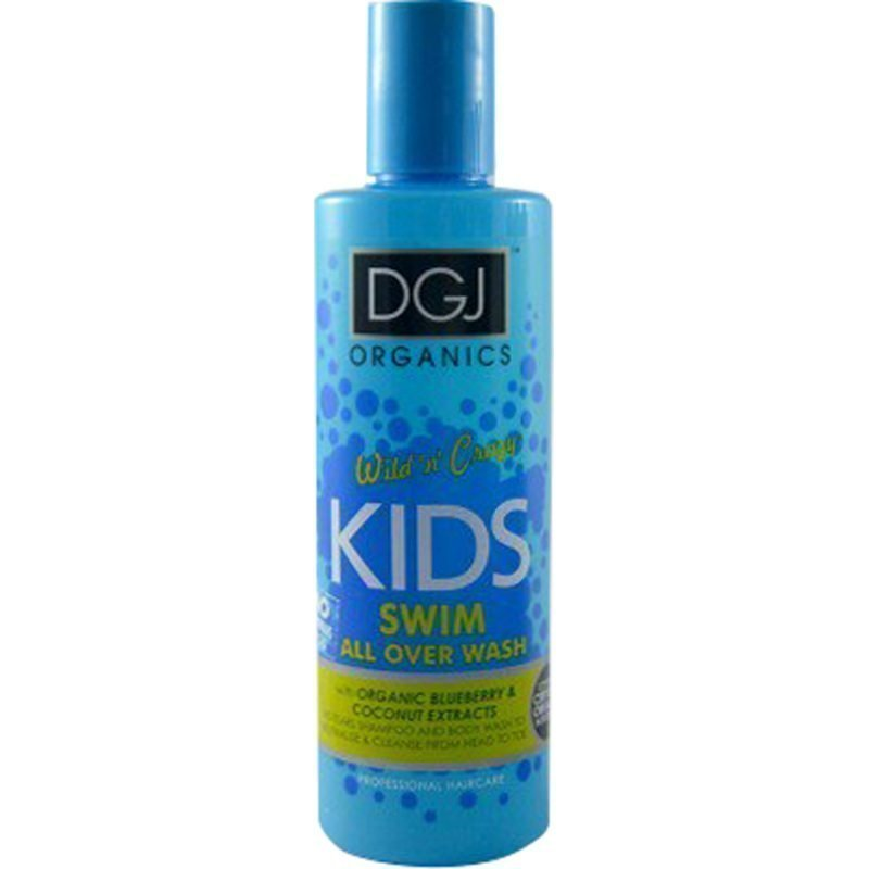 DGJ Organics Wild 'n' Crazy Kids Swim Shampoo & Body Wash Blueberry & Coconut 250ml