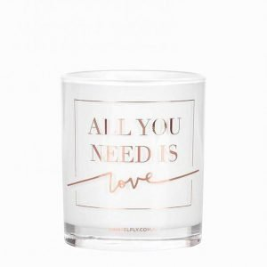 Damselfly Candles All You Need Is Love Tuoksukynttilä Rose Gold