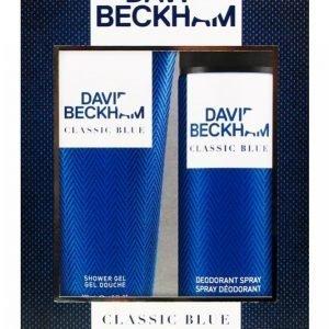 David Beckham Classic Blue Lahjapakkaus: Shower Gel 200 Ml + Deo Spray 150 Ml
