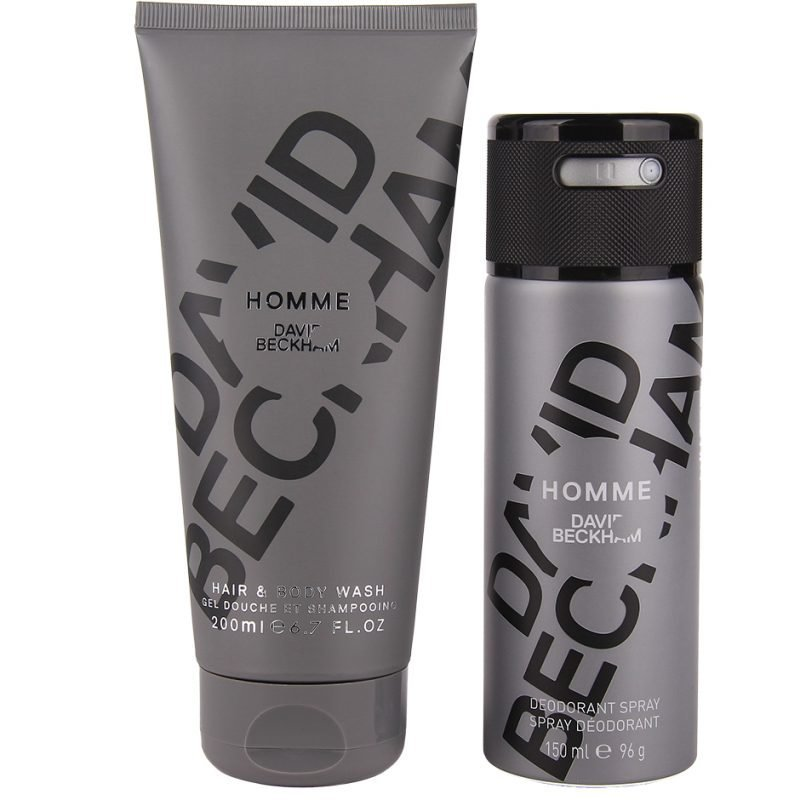 David Beckham Homme Duo Body Wash 200ml Deospray 150ml