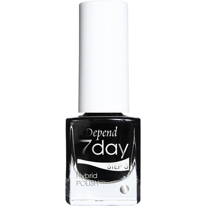 Depend 7 Day Hybrid Polish 7013 Goth Black 5ml