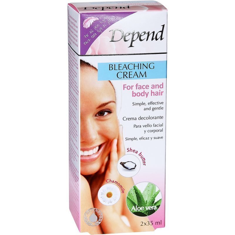 Depend Bleaching Cream For Face And Body Hair 2x35ml