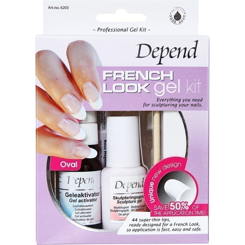 Depend French Look Gel Kit Oval 44 Tips