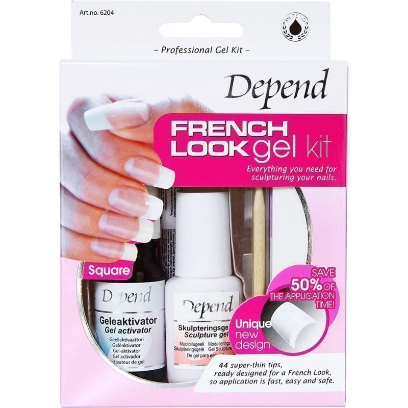Depend French Look Gel Kit Square 44 Tips