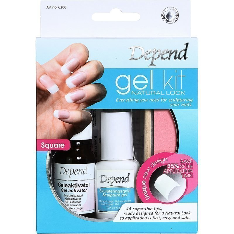 Depend Gel Kit Natural Look 44 Tips