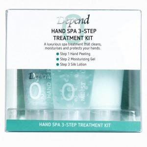 Depend Hand Spa 3-Step Treatment Kit Kynsihoito Valkoinen