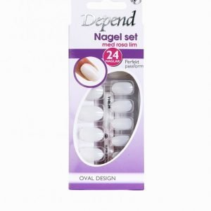 Depend Nail Kit Oval Design Tekokynnet Violetti