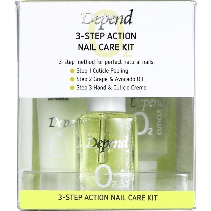 Depend O2 3-Step Acton Nail Care Kit 11ml 10ml 20ml