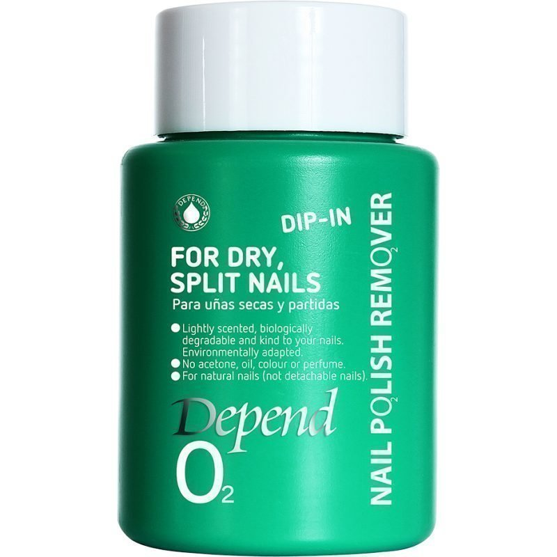 Depend O2 Nail Polish Remover Dip In For Dry Split Nails 75ml