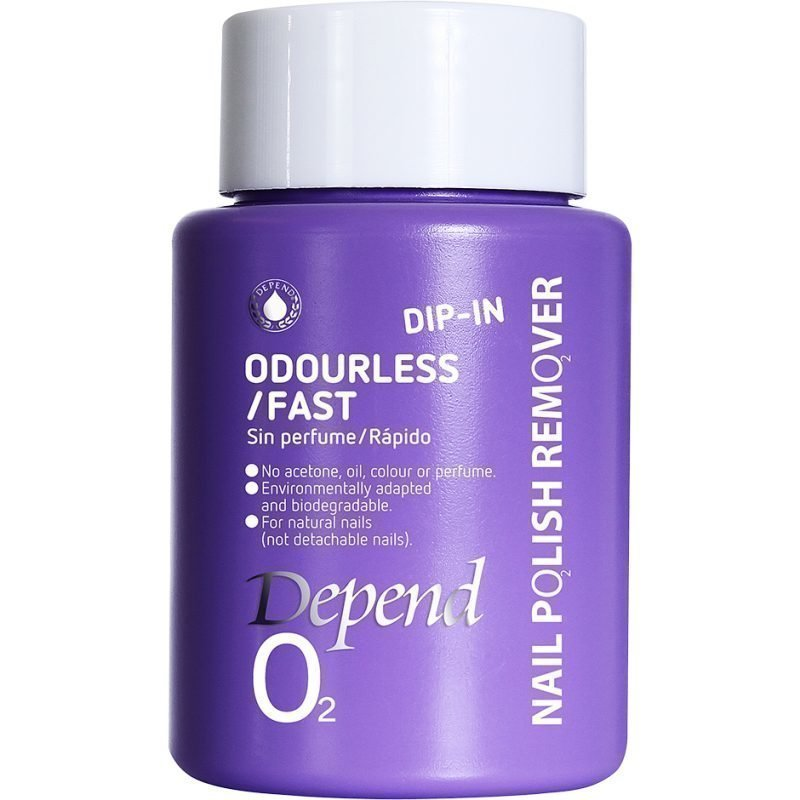 Depend O2 Nail Polish Remover Dip In Odourless/Fast 75ml