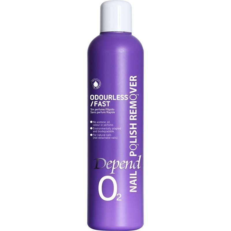 Depend O2 Nail Polish Remover Odourless/Fast 250ml