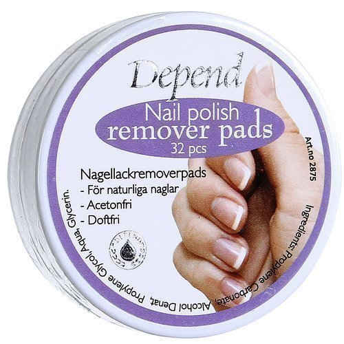Depend O2 Nail Polish Remover Pads
