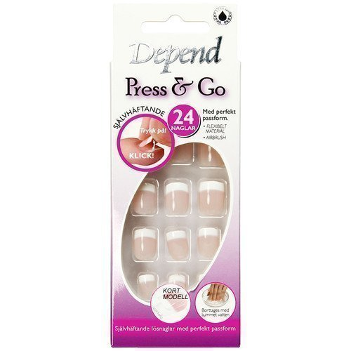 Depend Press & Go Adhesive Fake Nails 6091 Lyhyt Malli