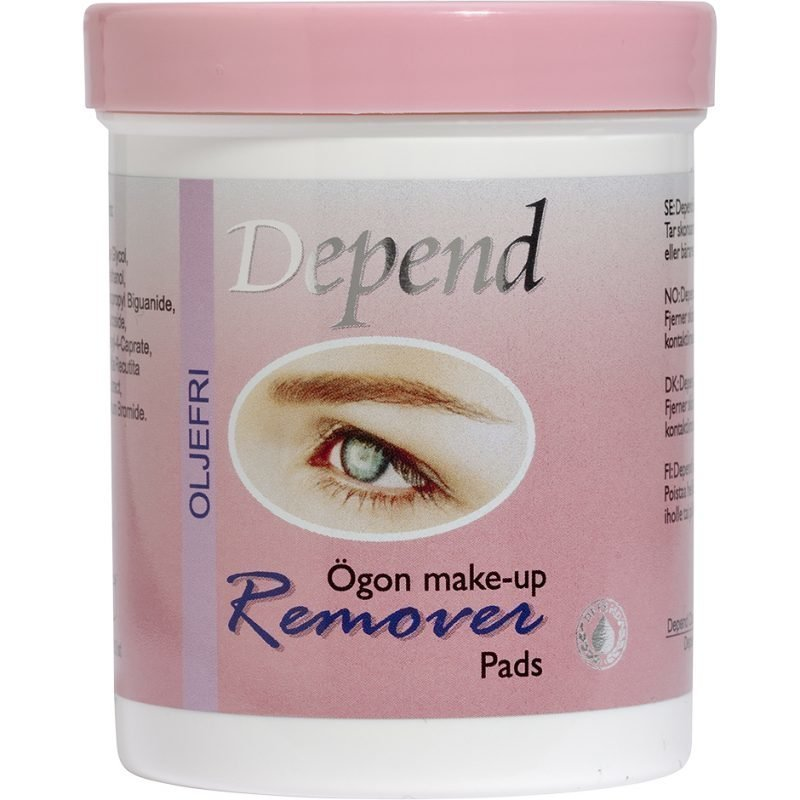Depend Remover Pads Oil Free Eye Makeup 80 Pcs