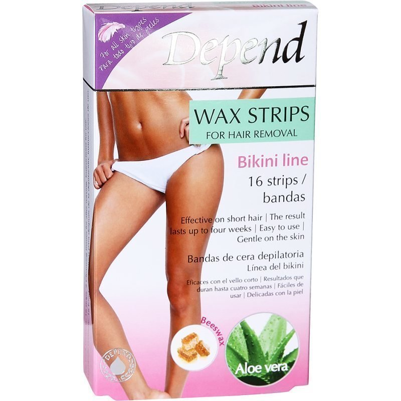 Depend Wax Strips Bikini Line 16 Strips