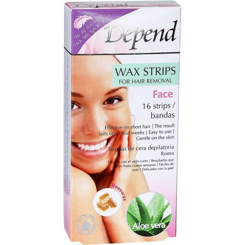 Depend Wax Strips Face 16 Strips