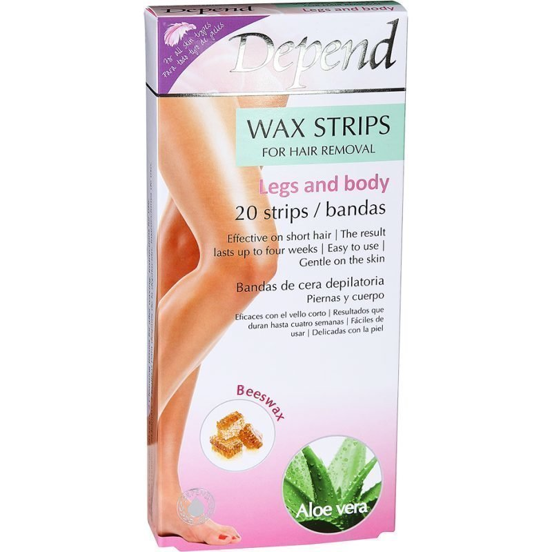 Depend Wax Strips Legs And Body 20 Strips