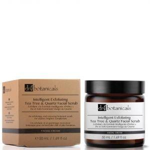 Dr Botanicals Intelligent Exfoliating Tea Tree And Quartz Facial Scrub 50 Ml