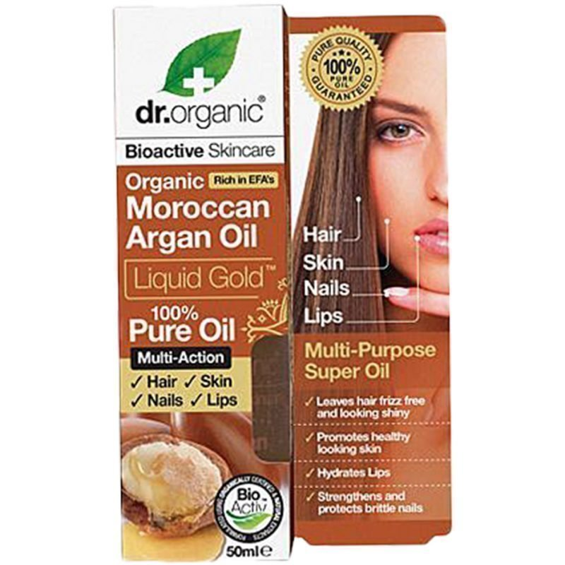 Dr Organic Moroccan Argan Oil Liquid Gold 100% Pure Oil 50ml