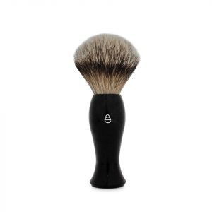 E-Shave Silvertip Badger Hair Long Handle Shaving Brush Black