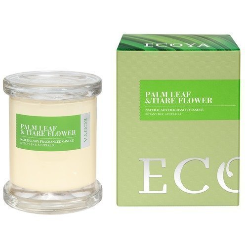 Ecoya Palm Leaf & Tiare Flower Botanicals Mini Metro Jar