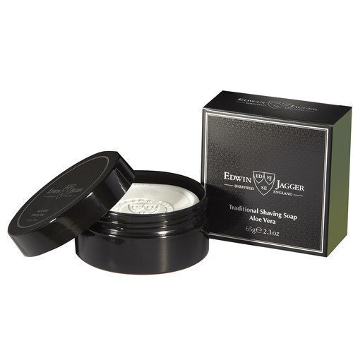 Edwin Jagger Natural Traditional Shaving Soap In Travel Container Aloe Vera