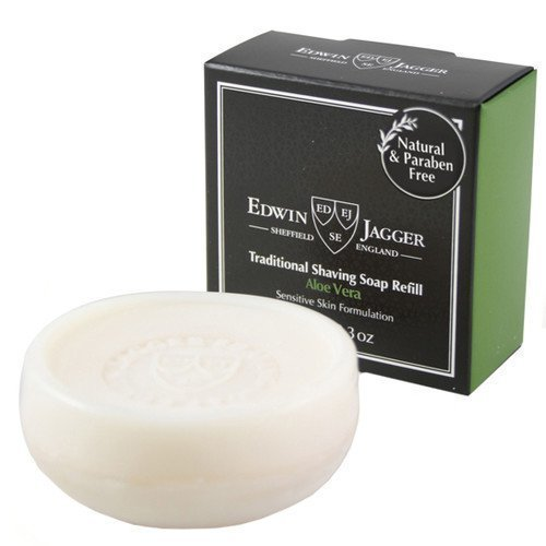 Edwin Jagger Natural Traditional Shaving Soap Refill Aloe Vera