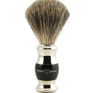 Edwin Jagger Shaving Brush Pure Badger Nickel Planted