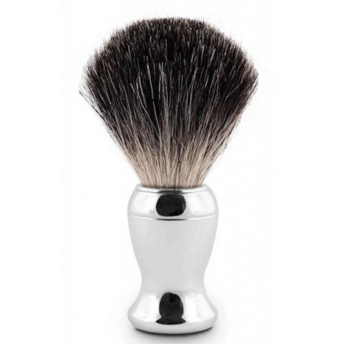 Edwin Jagger Shaving Brush Pure Badger Nickel Plated