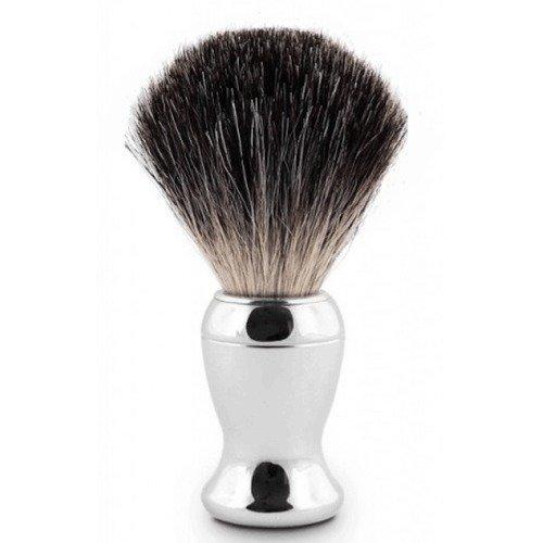 Edwin Jagger Shaving Brush Pure Badger Nickel Plated