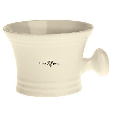 Edwin Jagger White Porcelain Shaving Soap Bowl Handle