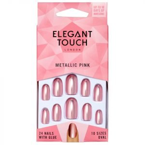Elegant Touch Colour Nails Metallic Pink