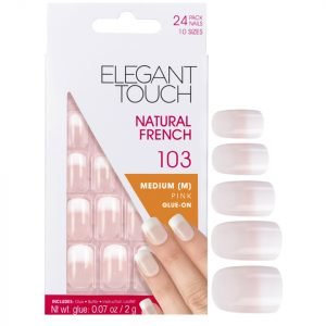 Elegant Touch Natural French Nails 103 M Pink Fade Tip