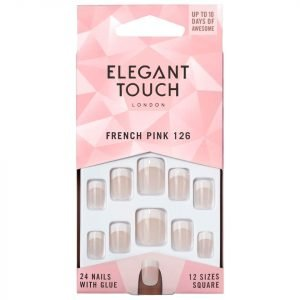Elegant Touch Natural French Nails 126 S Pink