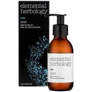 Elemental Herbology Fire Zest Bath And Body Oil 145 Ml