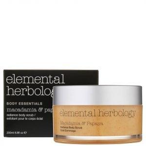 Elemental Herbology Macadamia And Papaya Body Scrub 200 Ml