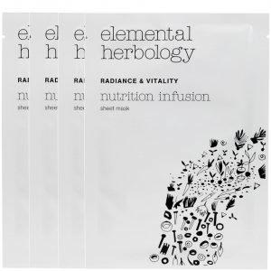 Elemental Herbology Nutrition Infusion Sheet Masks 4x25 G