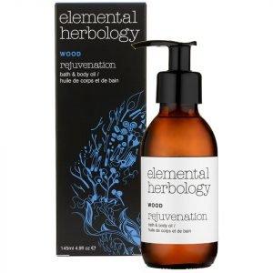 Elemental Herbology Wood Rejuvenation Bath And Body Oil 145 Ml