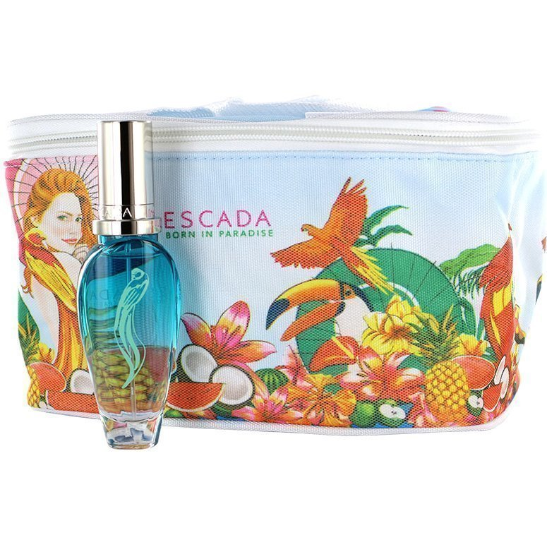 Escada Born In Paradise Giftset EdT 30ml Cosmetic Bag