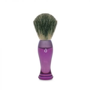 Eshave Finest Badger Hair Shaving Brush Long Handle Purple