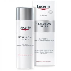 Eucerin® Anti-Age Hyaluron-Filler Day Cream For Normal To Combination Skin Spf15 + Uva Protection 50 Ml