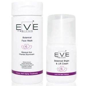 Eve Rebirth Botanical Face Mask + Botanical Bright & Lift Cream