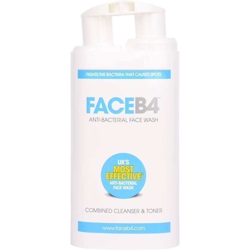 FaceB4 Anti-Bacterial Face Wash Combined Cleanser & Toner 100ml