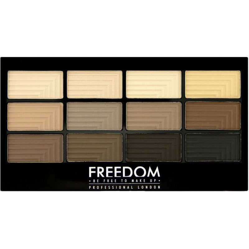 Freedom Makeup London Pro 12 Audacious Mattes 12 Eyeshadows