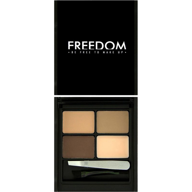 Freedom Makeup London Pro Eyebrow KitAble Eyebrow Powders Eyebrow Wax Brush & Tweezer