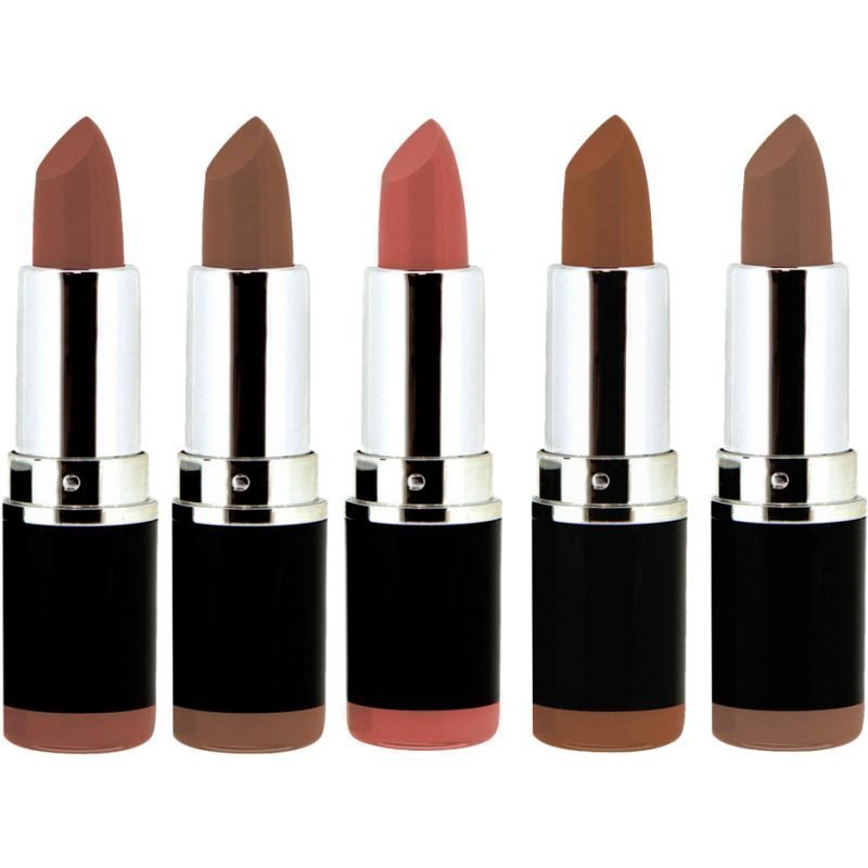 Freedom Makeup London Pro Lipstick Kit Bare Collection 5 Lipsticks 111 Untouched 112 Sooner Or Later 113 Whispers 114 Naked Beauty 115 Mannequin