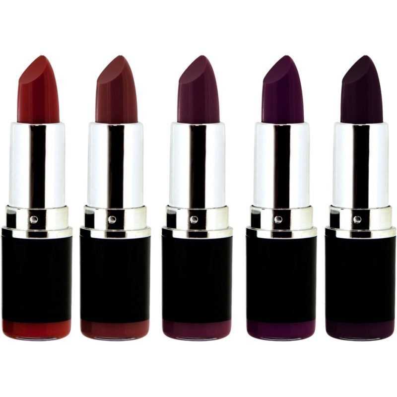Freedom Makeup London Pro Lipstick Kit Vamp Collection 5 Lipsticks Pure Vamp Vamp Noir Dusk Till Dawn Dark Paradise Intense Noir